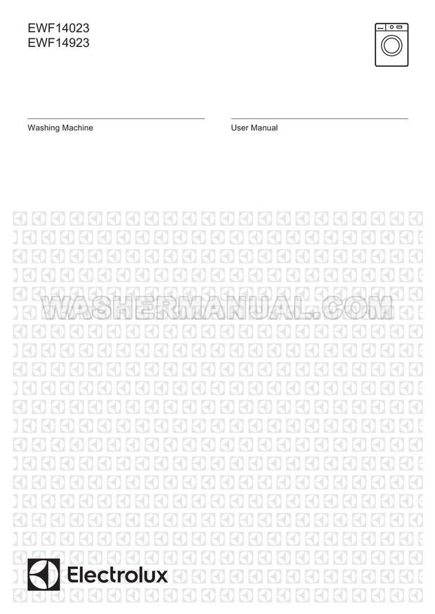 Electrolux EWF14023 Washer User Manual