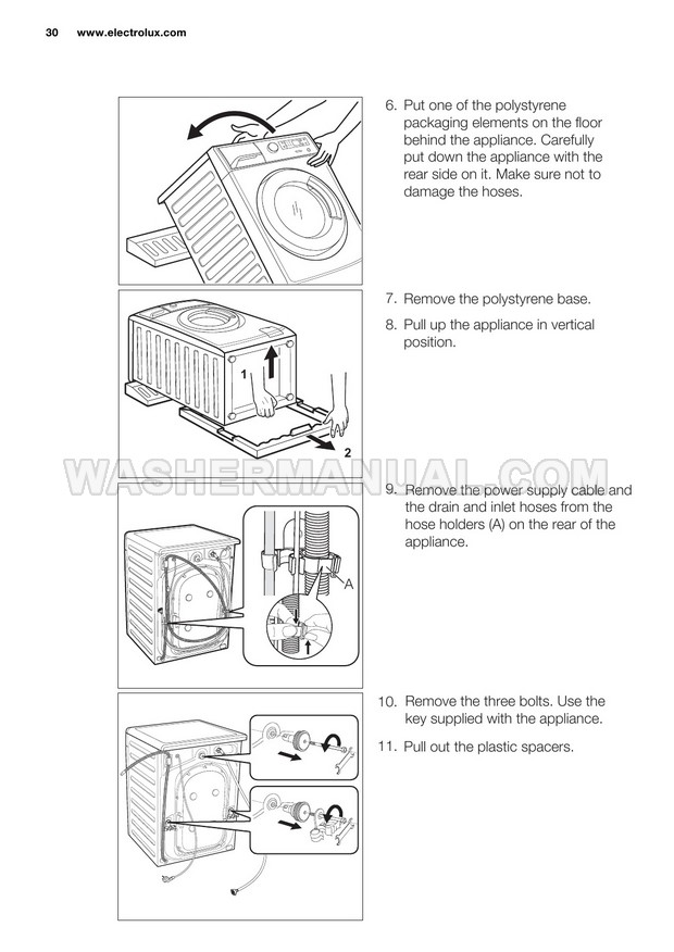 Electrolux EWF14742 Washer User Manual