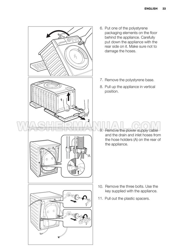 Electrolux EWF14822 Time Manager Washing Machine User Manual