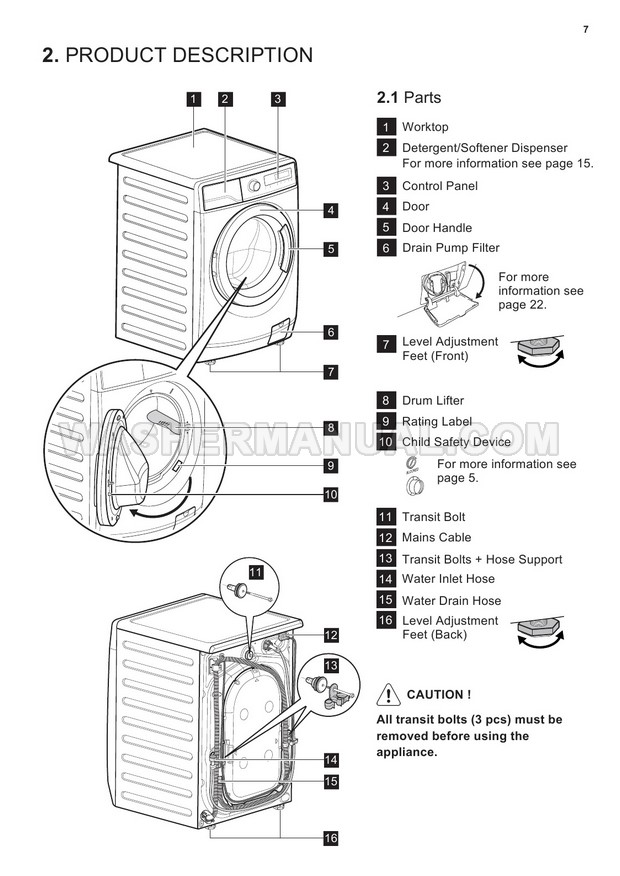 Electrolux EWF14933 Washing Machine User Manual