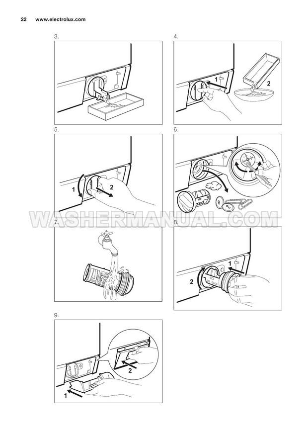 Electrolux WE170P Front Load Washing Machine User Manual