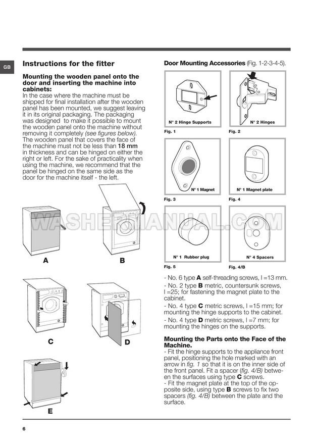 Hotpoint BHWM 129 Washing Machine Instructions for Use