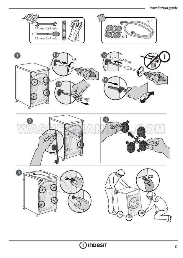 Indesit BWE 91484X Washing Machine User Manual