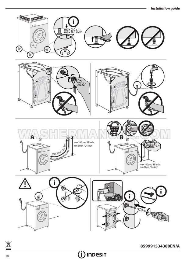Indesit BWE 91484X Washing Machine User Manual