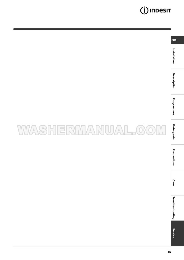 Indesit WIA 111 Instructions for Use