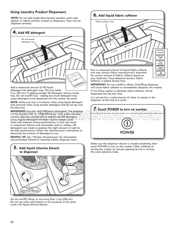 Kenmore 27132 Top Load Washing Machine Use & Care Guide
