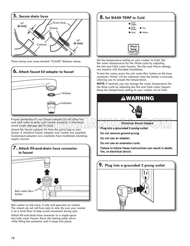 Kenmore 2644432K 110 Washing Machine Use & Care Guide