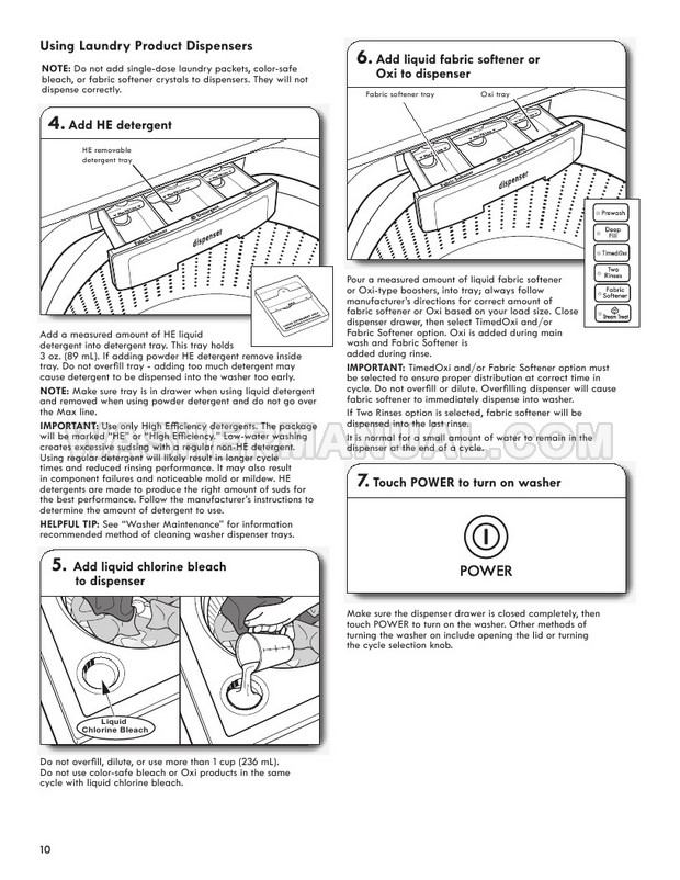 Kenmore 29132 Washing Machine Use & Care Guide
