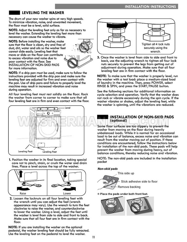 Kenmore 41072 Front Load Washer Use & Care Guide