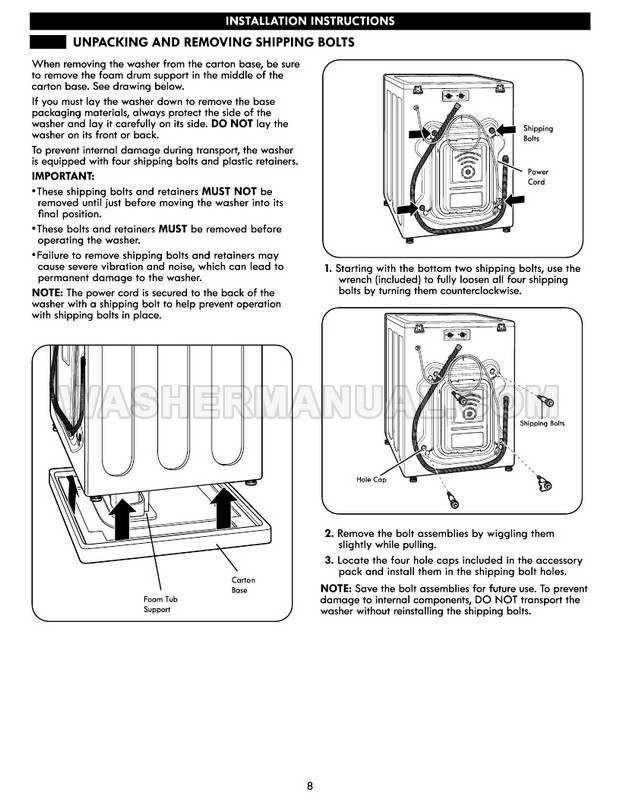 Kenmore 41073 Elite Washing Machine Use & Care Guide