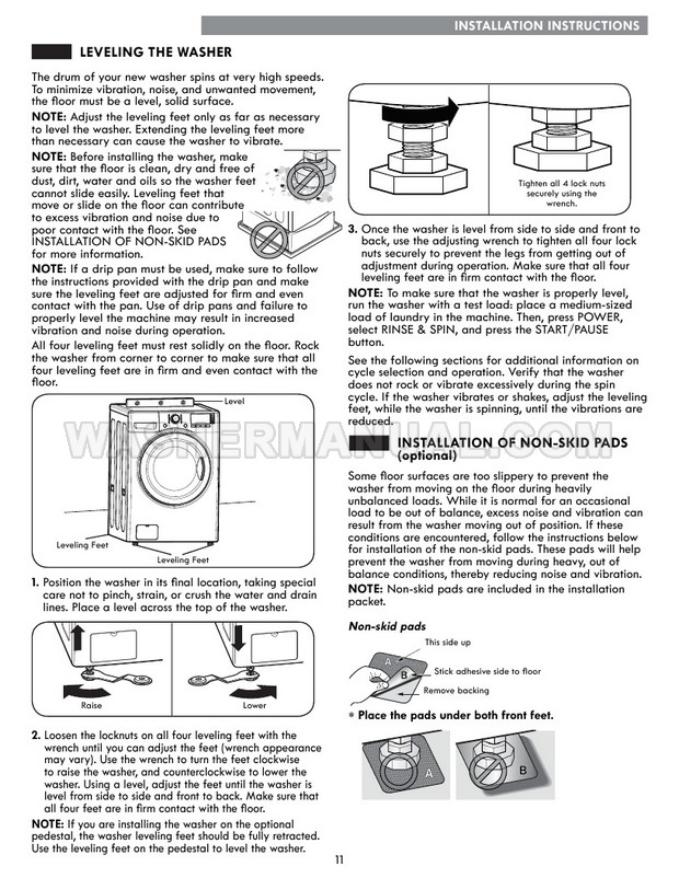 Kenmore 41262 Front Load Washing Machine Use & Care Guide