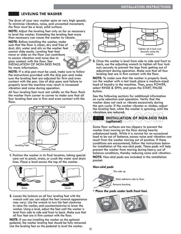 Kenmore 41302 Washer Use & Care Guide