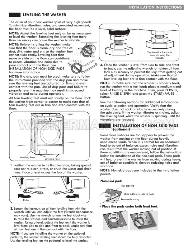 Kenmore 41982 Front Load Washing Machine Use & Care Guide