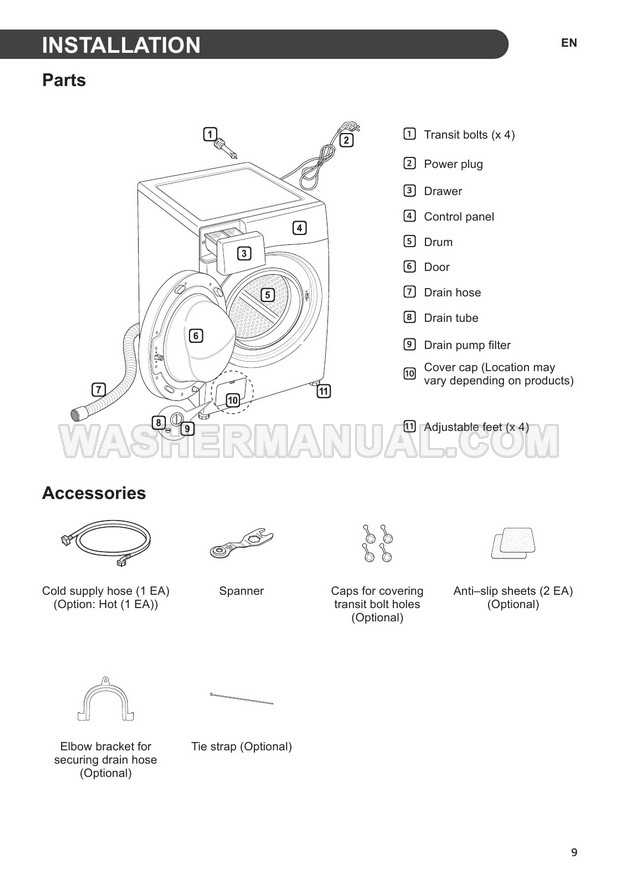 LG WD1475NCW Washing Machine Owner's Manual