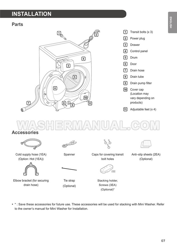 LG WD1411SBW Washer Owner's Manual