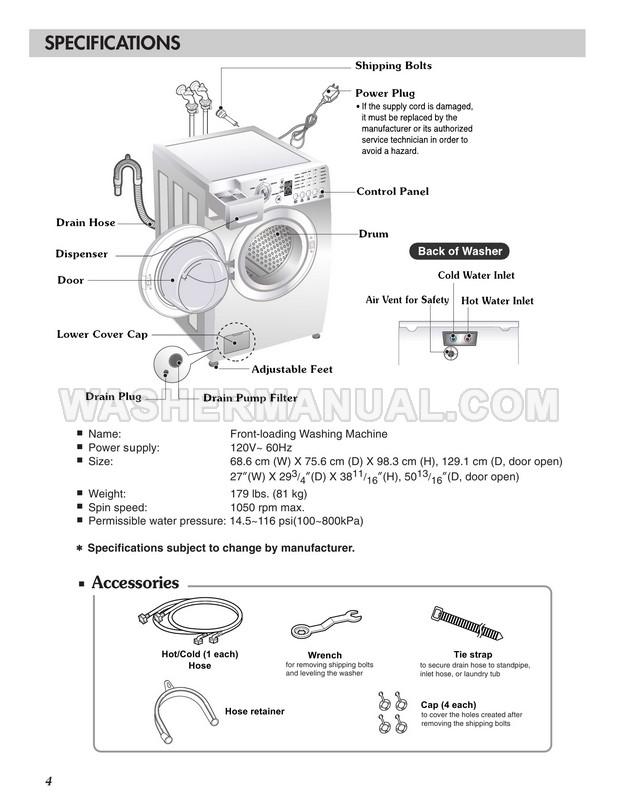LG WM2016CW Tromm Owner's Manual