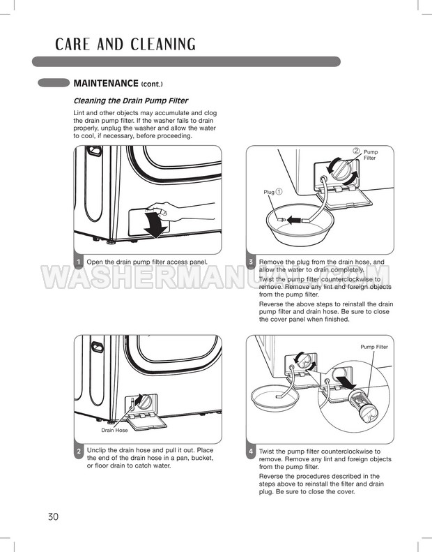 LG WM3875HVCA Owner's Manual