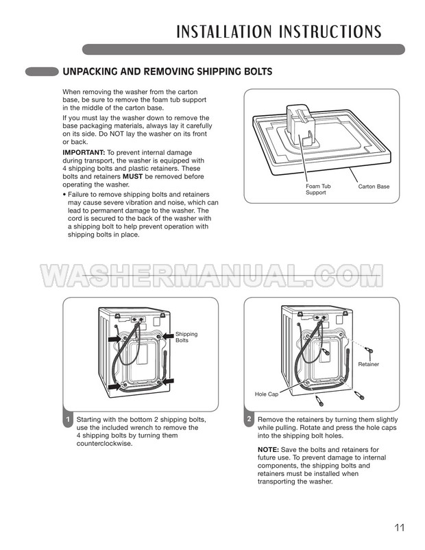 LG WM3987HW Front Load Washing Machine User's Guide