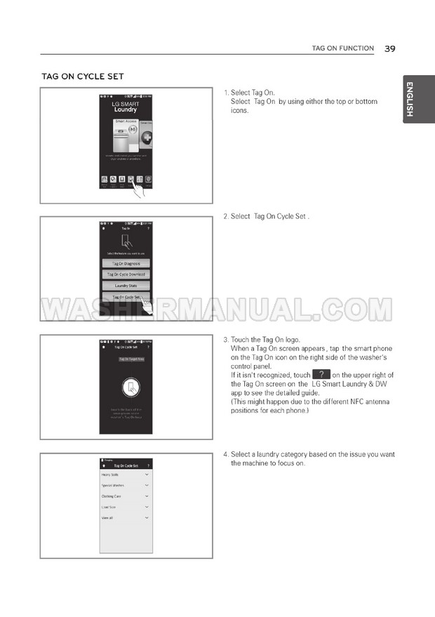 Electrolux Washer Manuals