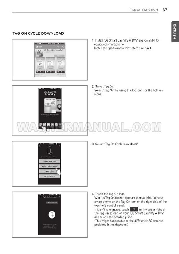 LG WT7600HKA Washing Machine Owner's Manual