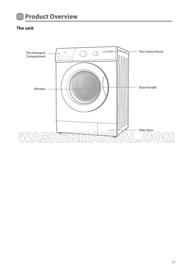 Logik L612WM12 Washer Installation Guide & Instruction Manual