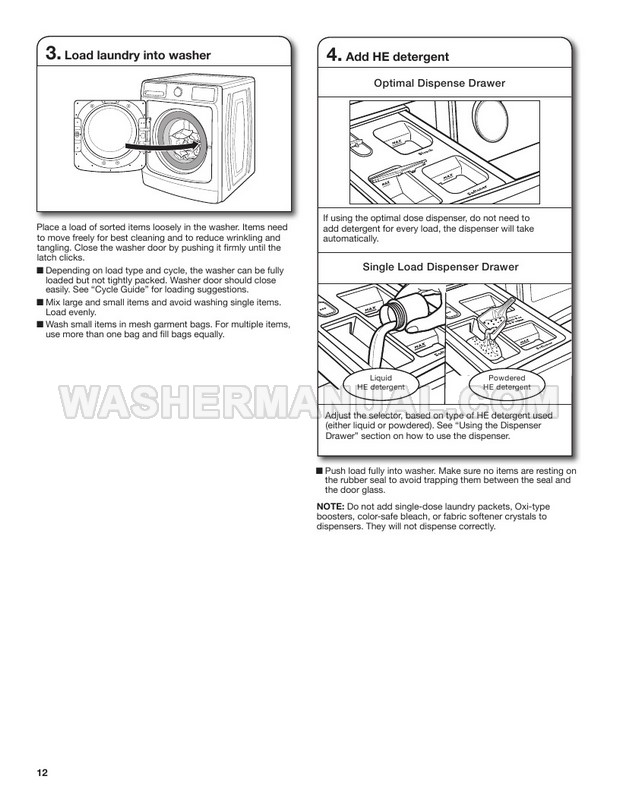 Maytag MHW8630HC Stackable Use and Care Guide