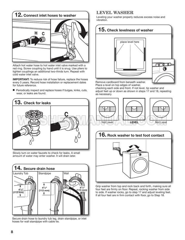 Maytag MHW7000XW Front Load Washing Machine Installation