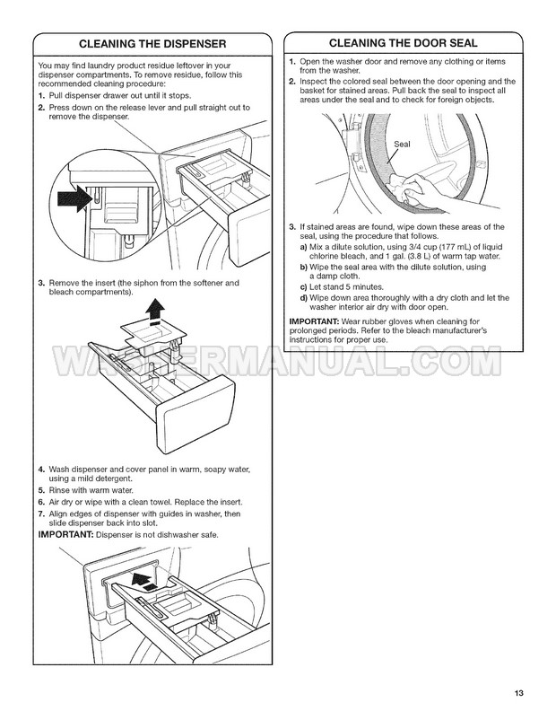 Maytag MHWE201YW00 Washer Use & Care Guide