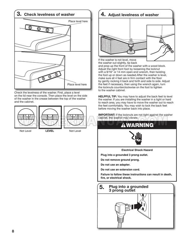 Maytag MVWB300WQ1 Top Load Washing Machine Installation