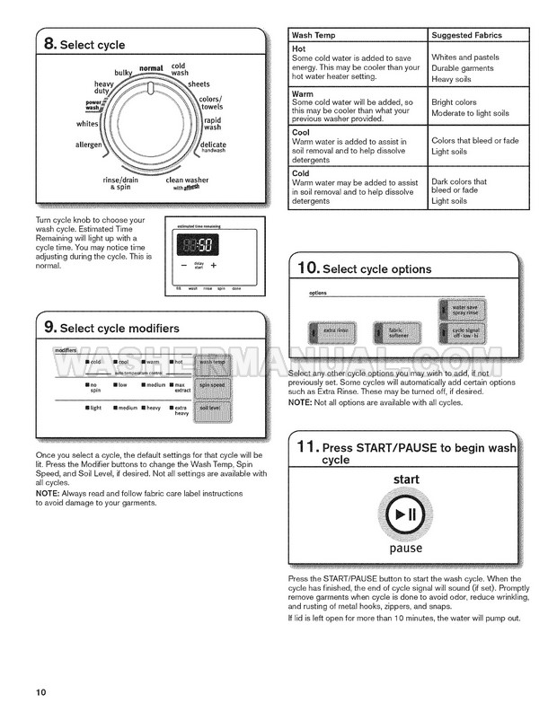 Maytag MVWB725BW0 Washing Machine Use and Care Guide