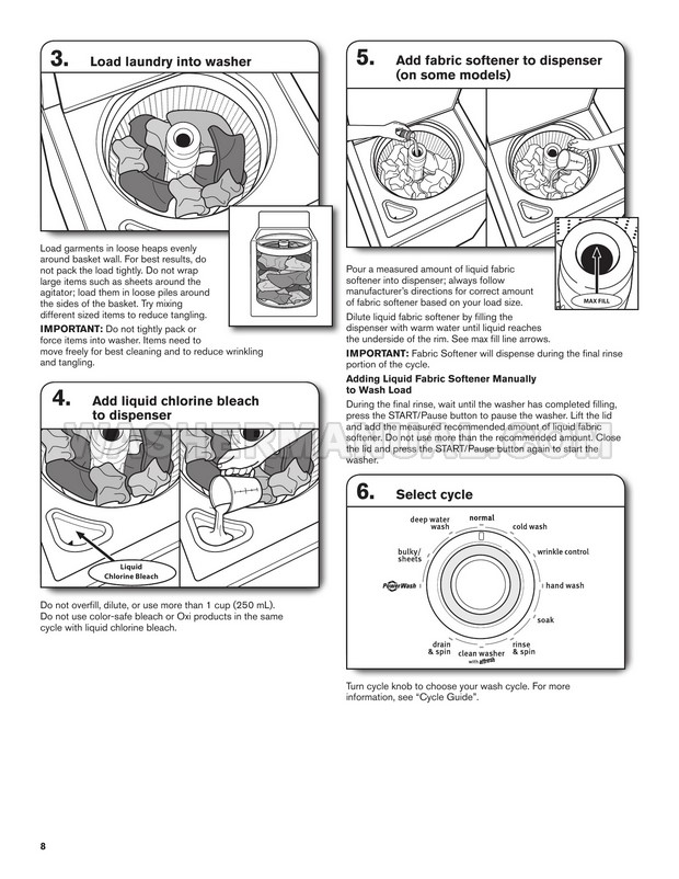 Maytag MVWC215EW Washer Use and Care Guide