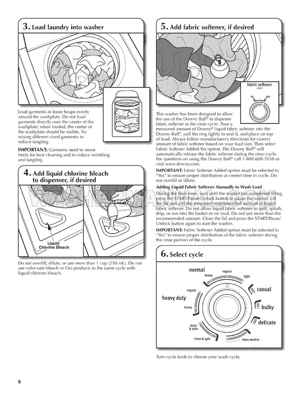 Maytag MVWC360AW Centennial EcoConserve Use and Care Guide