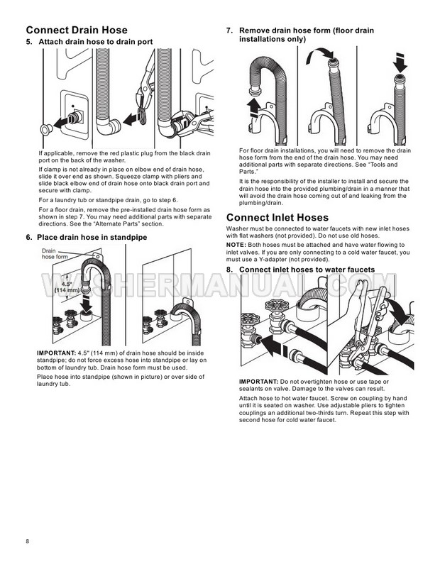 Maytag MVWB965HW Top Load Washing Machine Owner's Manual
