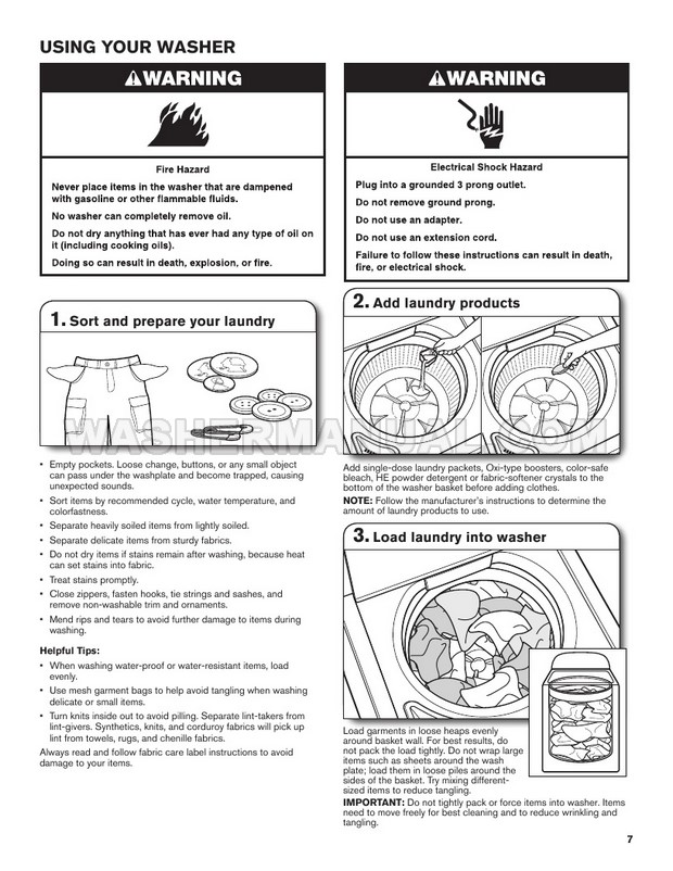 Maytag MVWX655DW Washer Use and Care Guide