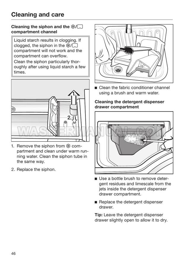 Miele WWD 320 WCS W1 Washing Machine Operating Instructions