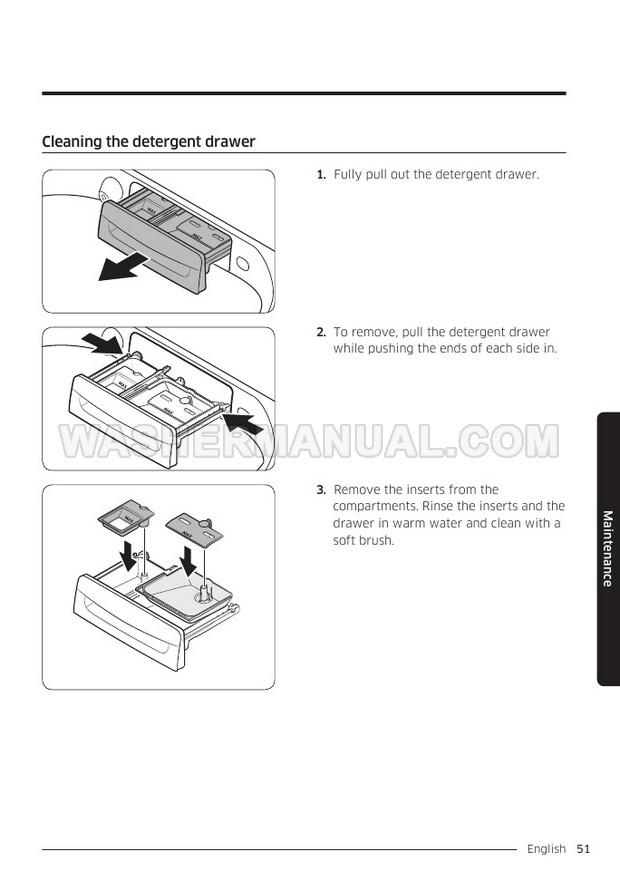 Samsung WA54R7600A Washing Machine User Manual