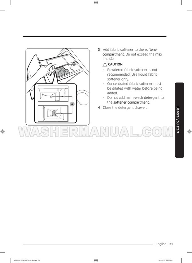 Samsung WF45M5100A Front Load Washer User Manual