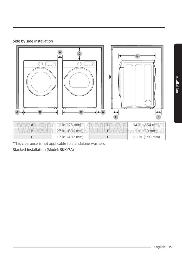 Samsung WF50K7500A AddWash User Manual