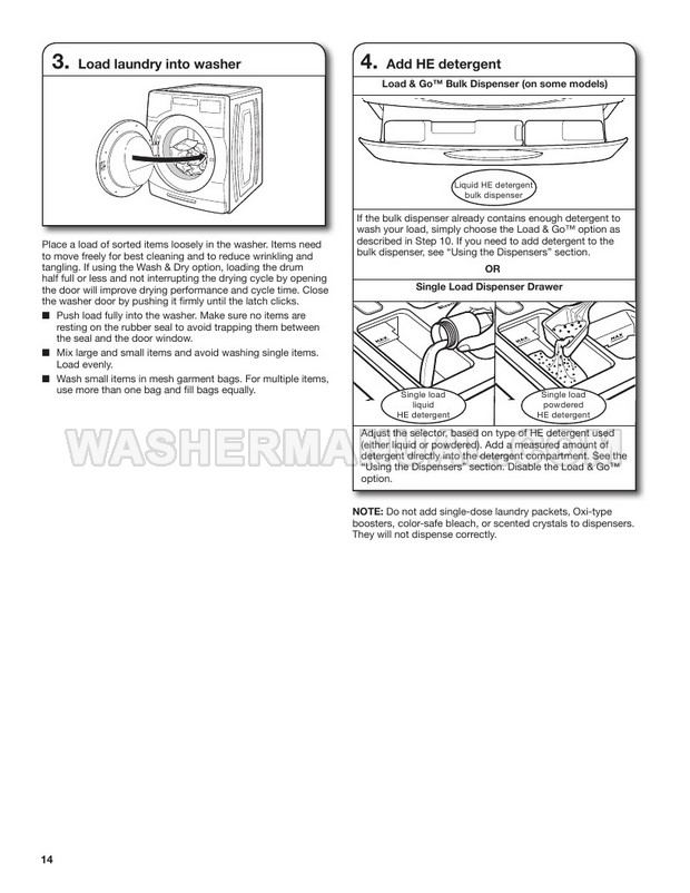 Whirlpool WFW6620HC Washer Use & Care Guide