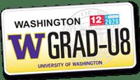 UW License Plate
