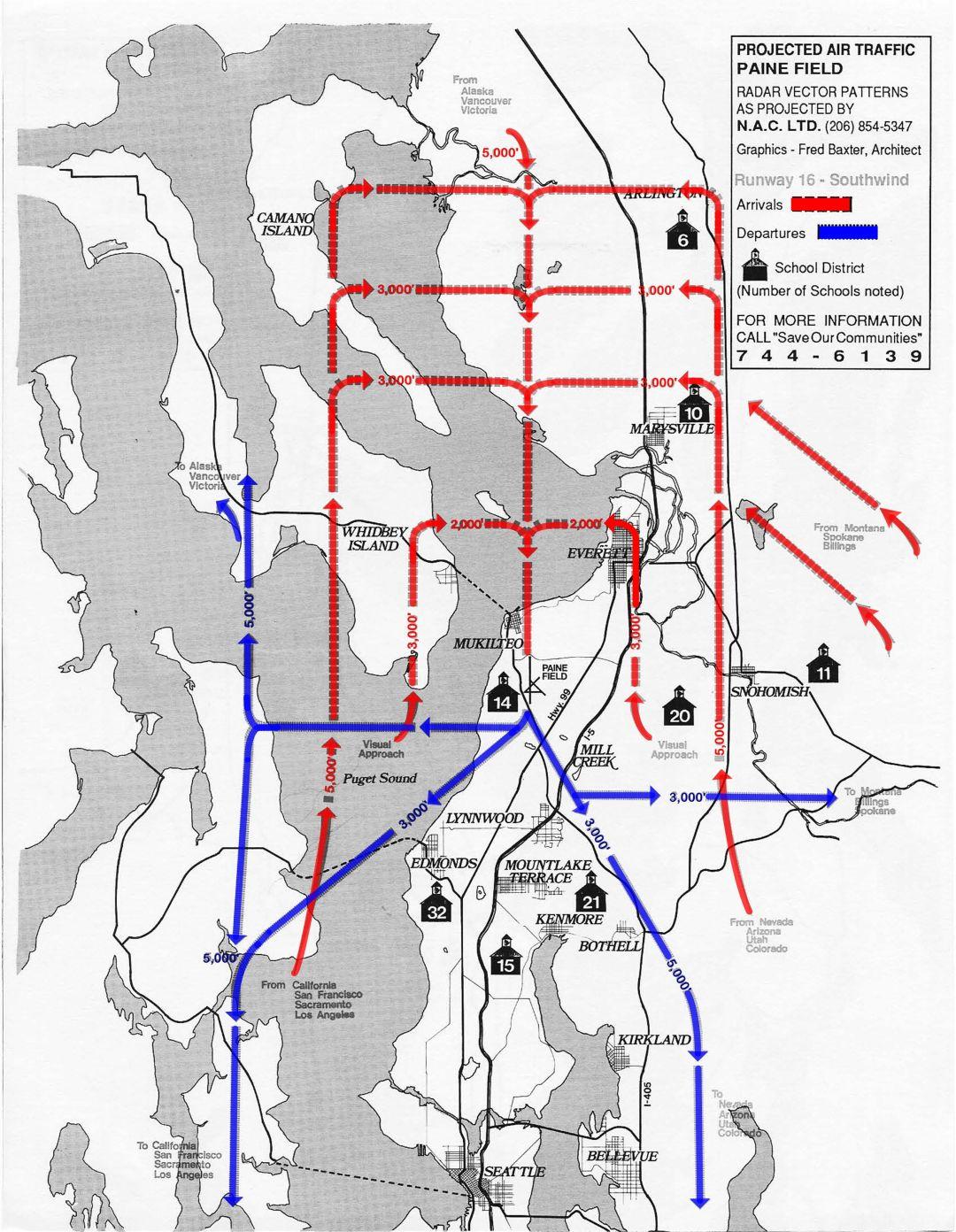 Everett Flight Path