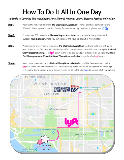 small resolution of onedayguide 2019 auto show and cherry blossom fest