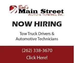 Bob's Main Street Auto now Hiring