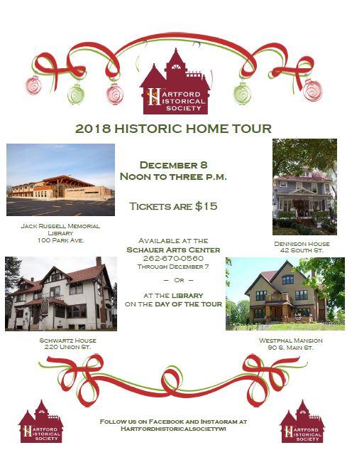 Program outlining 2018 Hartford Historic Tour of Homes