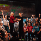 Hartford Union High School students rehearse Little Shop of Horrors Musical