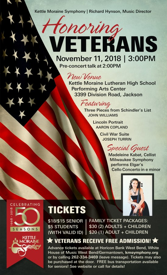 Kettle Moraine Symphony Veterans concert on Nov. 11.