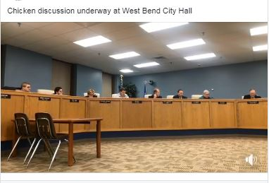 Chicken debate in West Bend