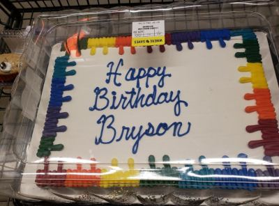 Happy Birthday Bryson cake