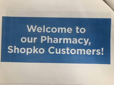 New pharmacy signs