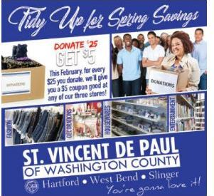St. Vincent De Paul February sale